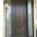 Fiberglass 2 Panel Front Door with 2 Frosted Side Lites installed by windowsanddoorstoronto.ca