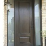 2 Panel Fiberglass Exterior Door with 2 Frosted Side Lites and Multi Point Locks installed in Toronto-After Installation