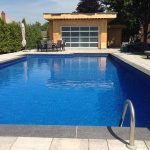 Aluminum Modern-garage-door-for-a-pool-Cabana-installed-by-Windows and doors Toronto