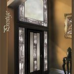 Prestige Design Wrought Iron Fiberglass Door with 2 Side Lites and Large Transom by Windows and Doors Toronto