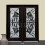 Stainless Steel Elegance Design with Wrought Iron Design and Stained Glass Fiberglass Doors by Windows and Doors Toronto