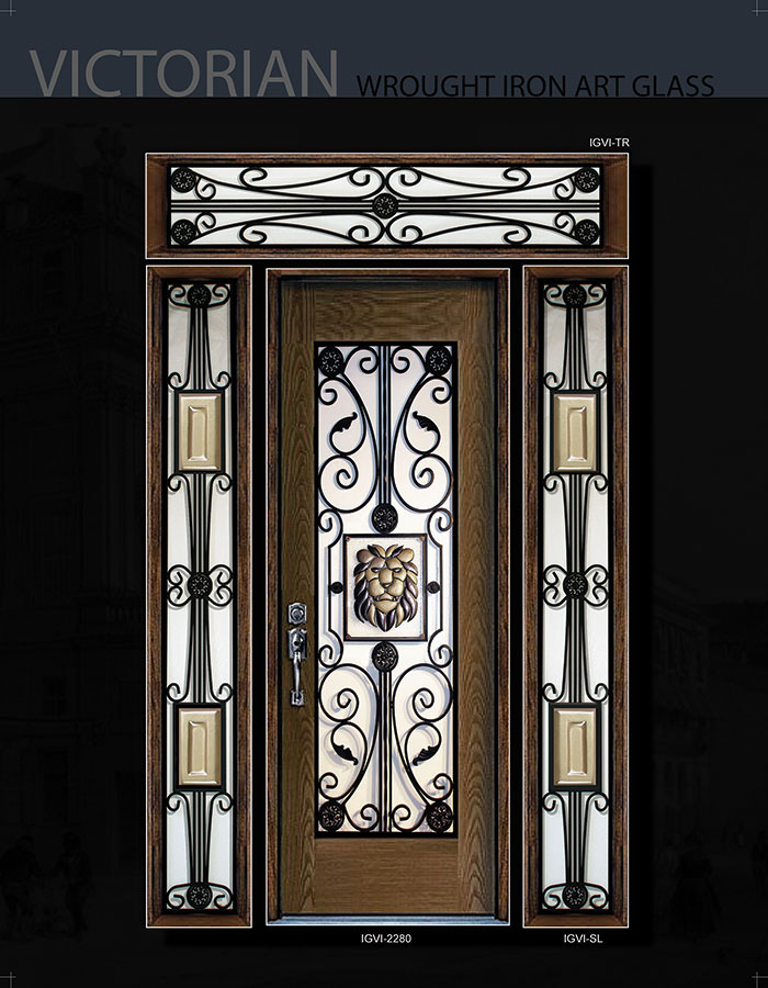 Victorian Wrought Iron Desgn And Stained Glass Fiberglass
