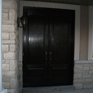 -Wood Grain Doors with Multi Point Locks Installed by windows and doors toronto