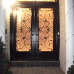3- Julietta Design Wrought Iron Doors with Arch Transom Installed by Windows and Doors Toronto