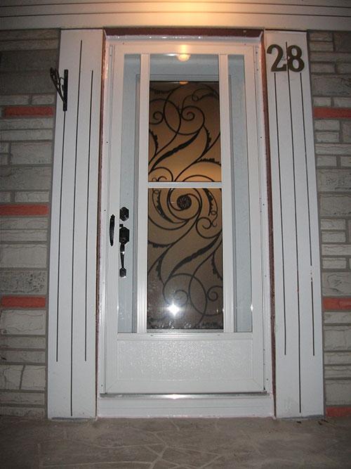 5-Wrought Iron Design Exterior Door Installed by Windows and Doors Toronto