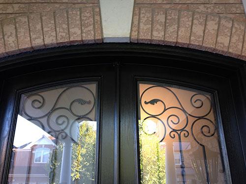Arch-Design-Fiberglass-Doors-installed-by-Windows And Doors Toronto-Top-View