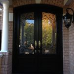 Arch-Fiberglass-Doors-with-Iron-Art-Design-and-Multi-Point-Locks-installed-by-Windows And Doors Toronto