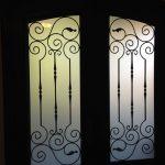 Arch-Fiberglass-Doors-with-Iron-Art-Design-installed-by Windows And Doors Toronto