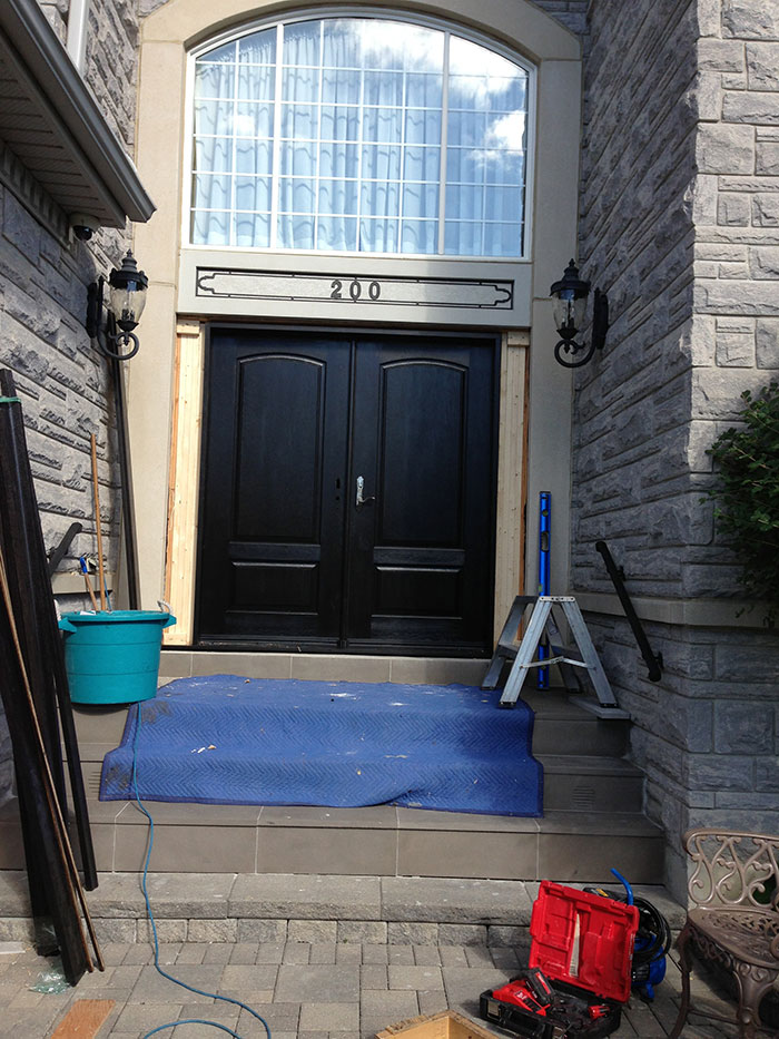 Doors Executive Wood Grain Doors with Multi Point Locks Installed by Windows and Doors Toronto