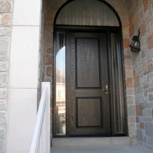 Executive Door-8-Foot-Front-Door-with-2-Glazed-Side-Lights-and-Matching-Art-Transom-Installed-in-Newmarket by Windows and Doors Toronto