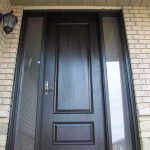 Executive Door, 8-Foot-Single-Solid-Fiberglass-Front-Door-With-2-Frosted-Side-Lites-Installed-in-Bloomington by Windows and Doors Toronto
