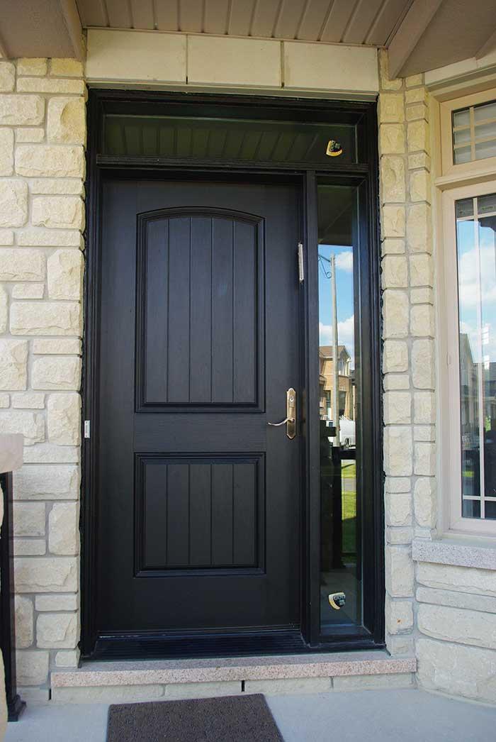 Executive Door, Fiberglass Door with Rustic and SIide Lite & Transom Installed in Richmondhill Ontario by Windows and Doors Toronto
