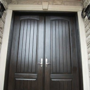Executive Doors, 8-Foot-Fiberglass-Solid--Front-Parliament-Rustic-Double-Doors-with-Multi-Point-Locks-Installed-in-Aurora by Windows and Doors Toronto