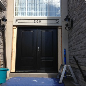 Executive Doors, Executive Wood Grain Doors with Multi Point Locks Installed by by Windows and Doors Toronto