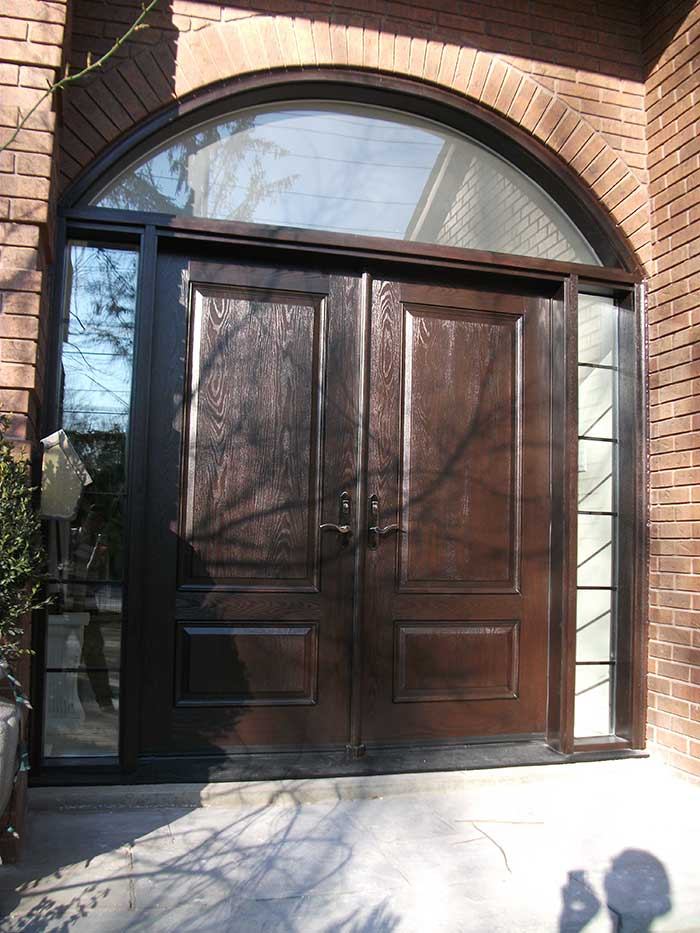 Arched Glass Front Door