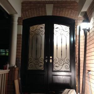Fiberglass Arch Doors installed by Windows and Doors Toronto