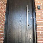Modern Woodgrain Single Door Installed by Windows and Doors Toronto