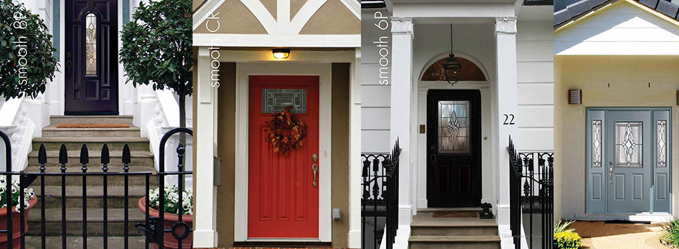 Smooth Fiberglass Doors Installed - by fiberglassdoors.com