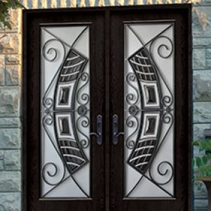 WROUGHT IRON, STAINLESS STEEL & STAINED GLASS DESIGNS Doors