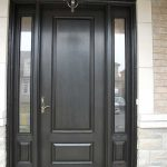 Wood Grain Door, Solid Door with 2 Side Lites Installed by Windows and Doors Toronto in Newmarket