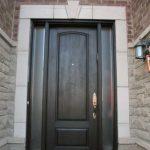 Wood grain Door, Solid Door with 2 Frosted Side Lites Installed by Windows and Doors Toronto in North York