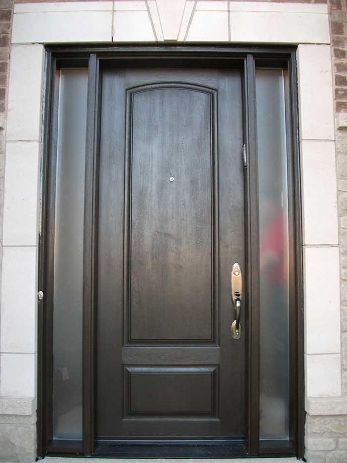Wood Grain Door with 2 Side lites Installed by Windows and Doors Toronto