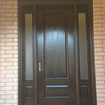 Wood grain Door with 2 Side lites, installed by Windows and Doors Toronto