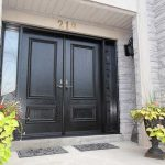 Wood grain Doors with 2 side Lites Installed by Windows and Doors Toronto in Milton Ontario