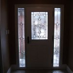11- Smooth Door, Stained Glass Door with 2 side Lites, Inside View Installed by Windows and Doors Toronto