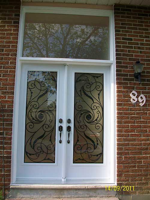 12-Smooth Doors with Multi Point Locks & Transom installed by Windows and Doors Toronto