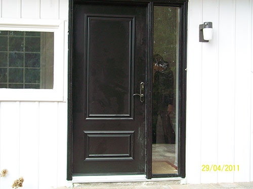 2-Smooth Door with Side Light Installed by Windows and Doors Toronto