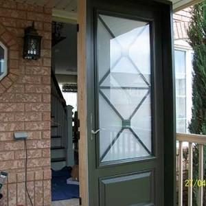 3 Quarter Smooth Door, Excalibur Design installaed by Windows and Doors Toronto