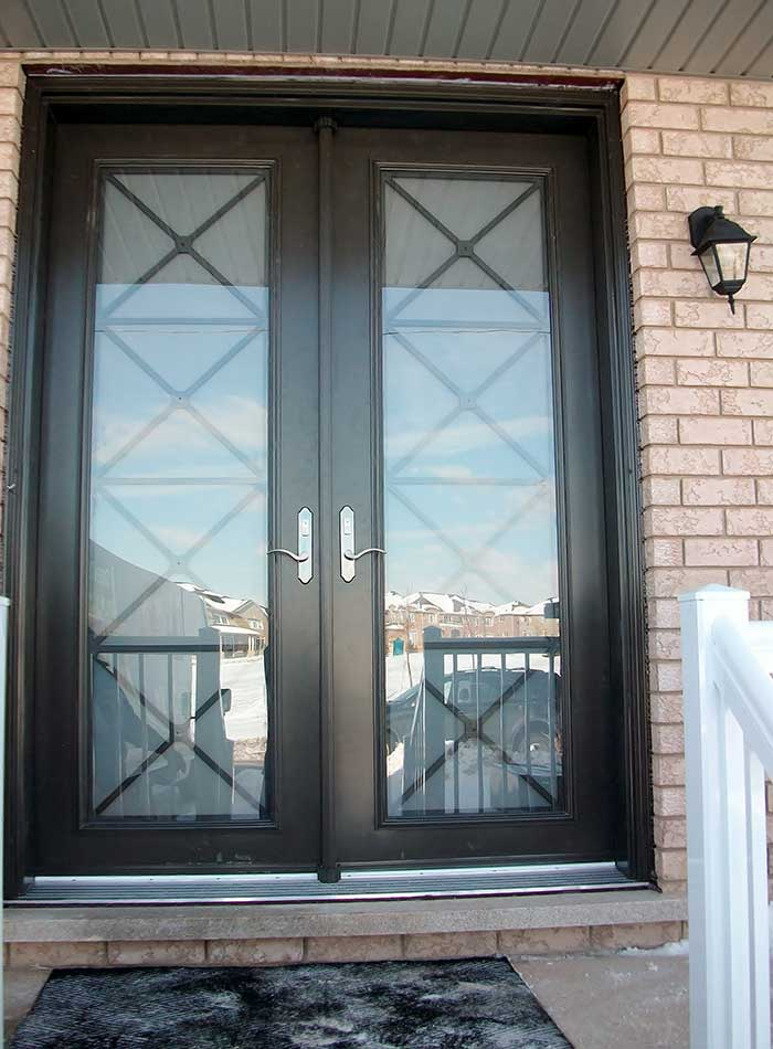 8-Foot-Double-Front-Door-with-Multi-Point-Locks-Installed- by Windows and Doors Toronto in-Vaughan