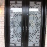 8-Foot-Fiberglass-Double-front-Doors-Milan-Design-with-Multi-Point-Locks-Installed- by Windows and Doors Toronto