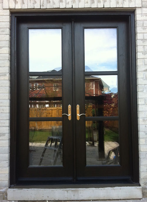 8 Foot Fiberglass Frech Doors installed by Windows and Doors Toronto