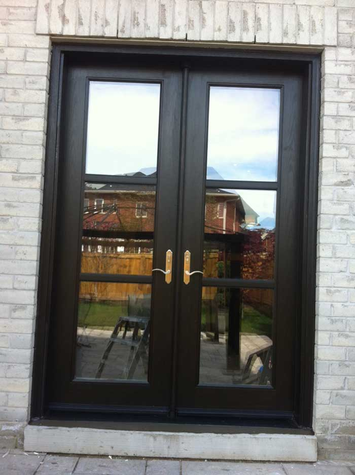 8-Foot-Fiberglass-French-Door-Installed-in-Back-Yard- by Windows and Doors Toronto
