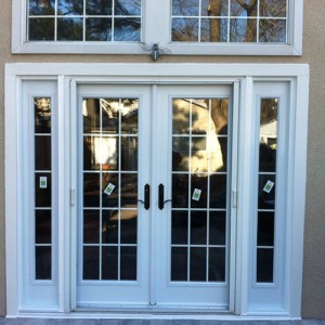 8 Foot French Doors with 2 Side Lites and Transom Installed by Windows and Doors Toronto