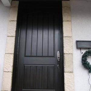 8-Rustic Doors, Single Door After Installation, Rustic Fiberglass Single Door Installed by Windows and Doors Toronto