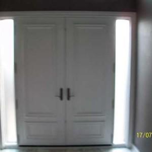 8 foot Smooth Doors, Solid Doors installed - Inside View by Windows and Doors Toronto