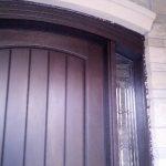 Arched Fiberglass Door-Rustic Fiberglass Door installed by windowsanddoors.ca in Vaughan