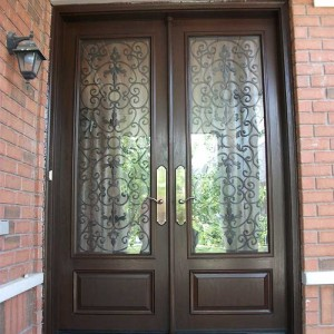 Custom Doors, 8-Foot-Milan-Design-Double-Front-Doors-with-Multi-Point-Locks-Installed-in-Whitby-by Windows and Doors Toronto