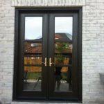 Custom Doors, Back-Yard-Door 8-Foot-Fiberglass-French-Door-with-Multi-Point-Locks-Installed by Windows and Doors Toronto-in-Brampton