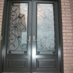 Custom Doors-Fiberglass-8 Foot Milan-Design-front-Door-with-Multi-Point-Locks-installed by Windows and Doors Toronto-in-Mississauga