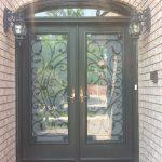 Custom Doors-Fiberglass Doors with Iron Art Design & Machting Transom installed by Windows and Doors Toronto