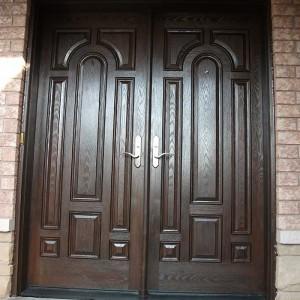Custom Doors-Fiberglass Rustic Parliament Door wit Multi Point Locks Installed by Windows and Doors Toronto in North York