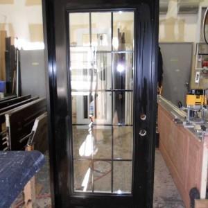 Custom Doors-Fiberglass Single Flash Glazed Back Yard Door installed by Windows and Doors Toronto