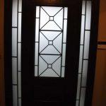 Custom Doors-Fiberglass Single Front Door with 2 Iron Art Side lights Installed by Windows and Doors Toronto in Woodbridge Inside View