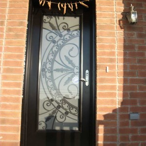 Custom Doors-Fiberglass Single Front Full Glass installed by Windows and Doors Toronto in MiltonDoor