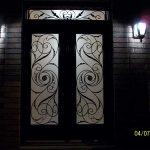 Custom Doors- Fiberglass doors- Milan design & Matching Transom Installed by Windows and Doors Toronto in Oakville