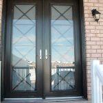 Custom Doors, Milan-Design-Fiberglass-8-Foot-Double-Front-Door-with-Multi-Point-Locks-Installed by Windows and Doors Toronto-in-Vaughan